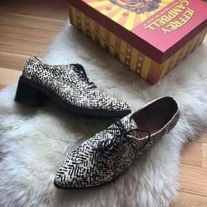 Jeffrey Campbell Calf Hair Platform Oxfords
